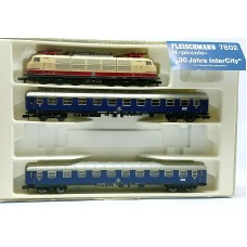 "Fleischmann 7802 N Train set with Electric locomotive BR103 ""30 Jahre InterCity"" of the DB , Special Edition"