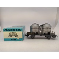 Marklin 4511 Powdered Freight Silo Car Brown Coal Dust DB for Gauge H0