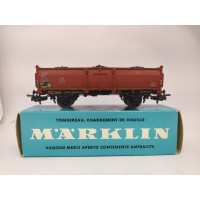 Marklin 4604 Open Gondola Car With Coal Load HO Scale Western Germany 93