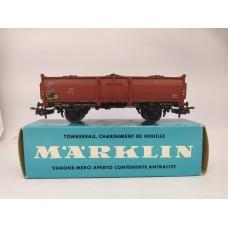 Marklin 4604 Open Gondola Car With Coal Load HO Scale Western Germany 93